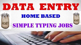 In this video i will show you that data entry jobs work from home without investment - make money online based work. can easily make...