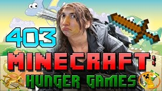 Minecraft: Hunger Games w/Mitch! Game 403 - HACKED! Wooden Weapon Challenge!