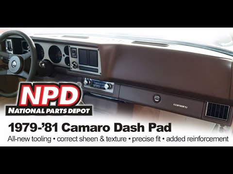 Product Review Of NPD Exclusive 1979 1980 1981 Camaro Dash Pad