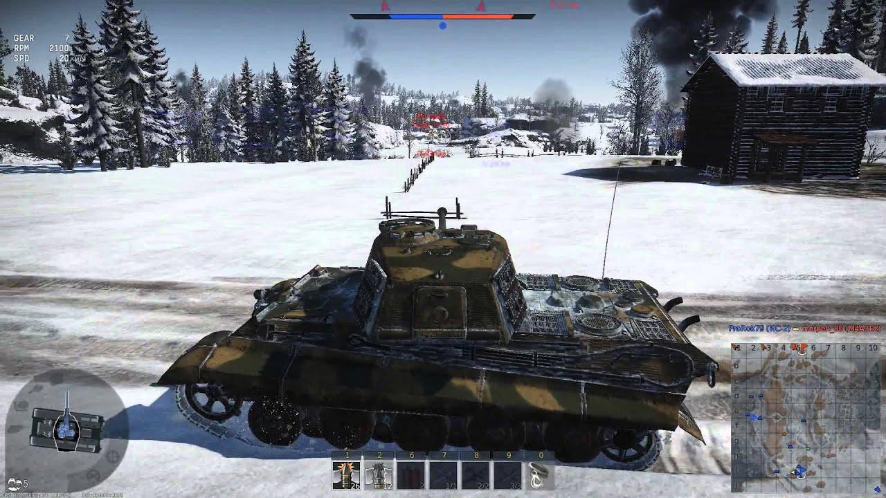 бои вар тандер на танках видео