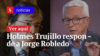 Carlos Holmes Trujillo respondió a Jorge Robledo, quien pidió su renuncia | Semana Noticias
