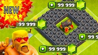 "CLASH OF CLANS -NEW(14,000 FREE GEMS)OMFG!CANNON LVL 13 GAMEPLAY+GEMMING MAX /GEM SPREE""(MUST SEE)"