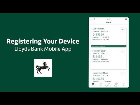 Lloyds Bank Mobile Banking app device registration guide