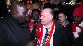 Big Up Joel Campbell says Claude  | Arsenal 3 Dinamo Zagreb 0