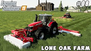 Sowing wheat, harvesting and baling hay   Lone Oak Farm   Farming simulator 19   Timelapse #08