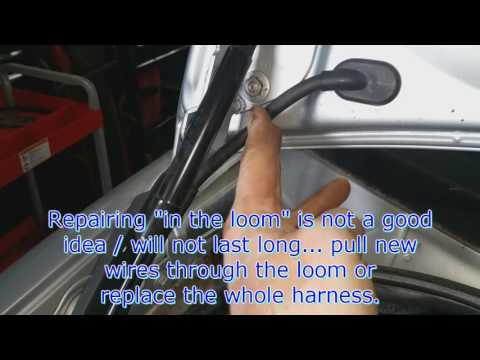 VW A4: Trunk lid wiring loom... common issue. - YouTube Deck Lid Ford Focus Wire Harness on