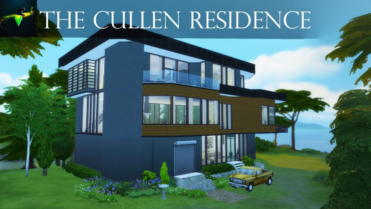 The Cullen Residence From Twilight The Hoke House The Sims 4 Speed Build Youtube
