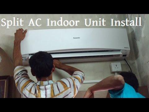 How to Install Split AC Indoor Unit | Panasonic Air Conditioner Indoor Machine Installation