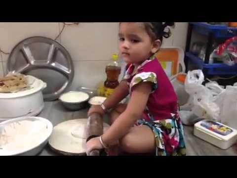 small Girl making roti thumbnail