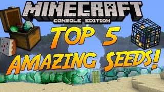 Minecraft Xbox One/PS4: Top 5 Amazing Seeds 2017! [HD]