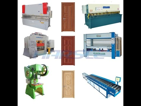 security steel metal door panel production line, hollow metal door manufacturing process