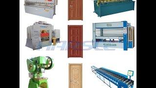 security steel metal door panel production line, hollow metal door manufacturing process