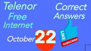 Telenor Free Internet, Correct Answers, October 22,2021 screenshot 5