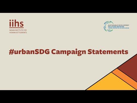 #urbanSDG Campaign Statements
