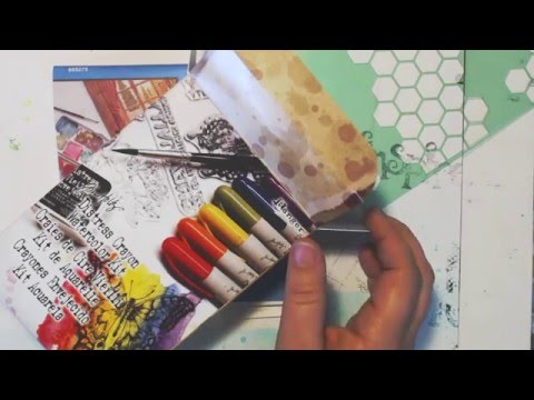 Unboxing! Tim Holtz Distress Crayons - First Impressions-paper tests