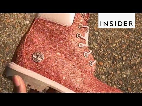 fddf9ab6c96f Customized Glitter Shoes - YouTube