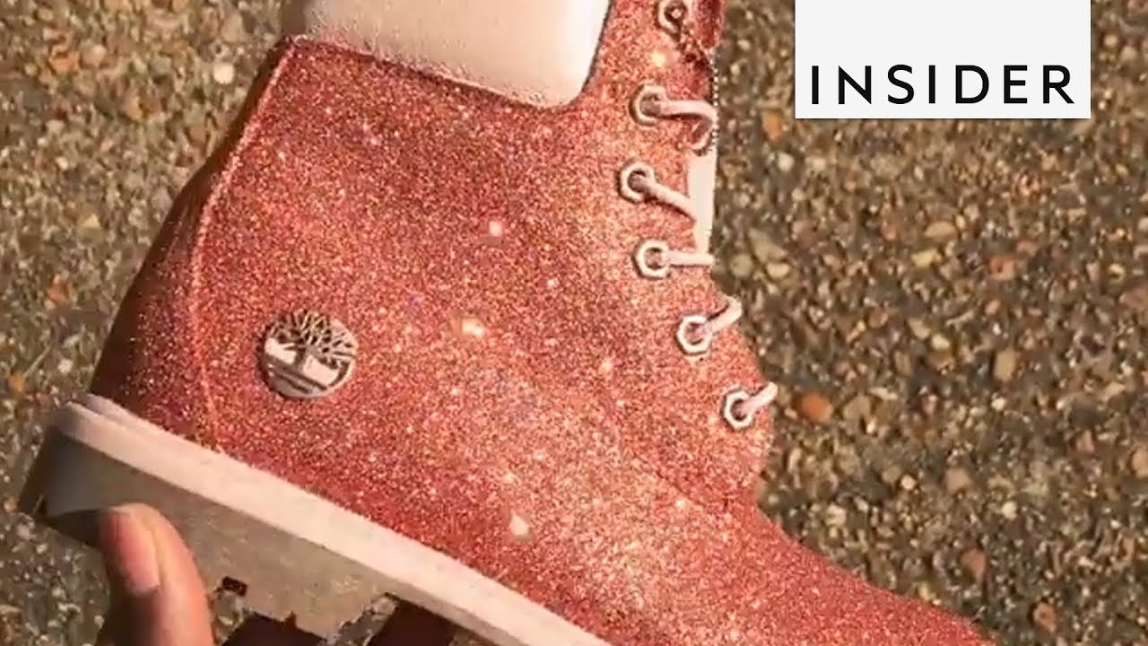 8674da463d427a Customized Glitter Shoes - YouTube