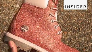 Customized Glitter Shoes