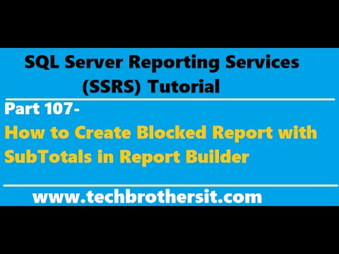 Welcome To TechBrothersIT: SSRS Tutorial 107- How to Create Blocked