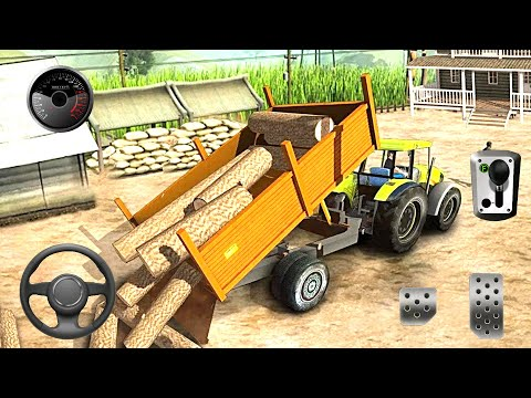 Tractor Farming Simulator USA - Real Driver Simulator - Modern Tractor Pulling USA Android Gameplay