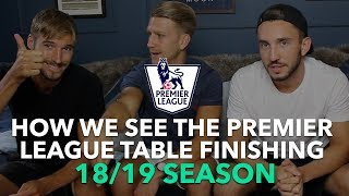 Premier League Table Prediction 2018/19