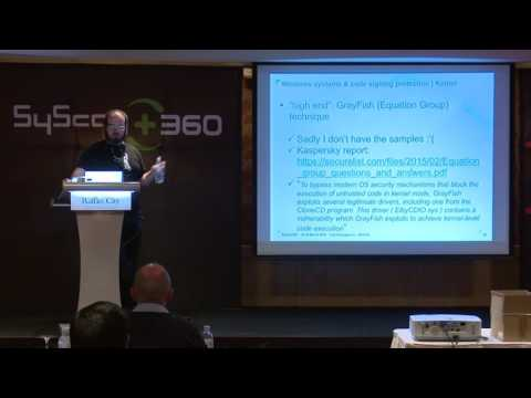 SyScan360'16 Singapore: Windows Systems & Code Signing Protection