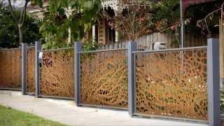 Забор металлический(Видео-блог о дизайне, архитектуре и стиле. Идеи для тех кто обустраивает свой дом, квартиру, дачу, садовый..., 2013-09-14T11:04:42.000Z)