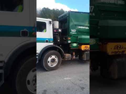 Waste pro recycling truck pt 1