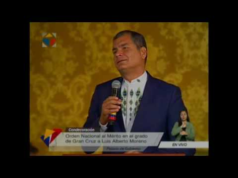 Condecoración  a Luis Alberto Moreno, Presidente del Banco Interamericano de Desarrollo BID
