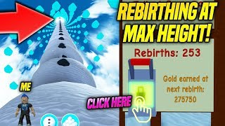 What Happens When You REBIRTH At MAXIMUM HEIGHT In SNOWMAN SIMULATOR!! (Roblox)