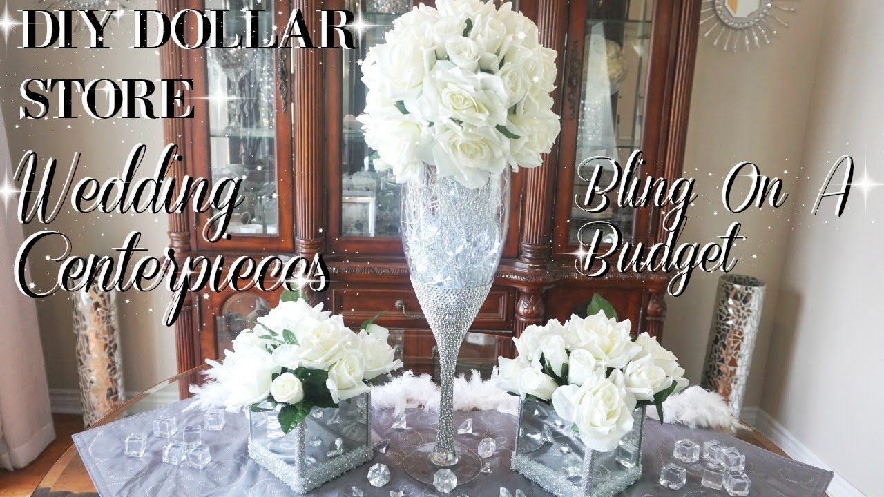 DIY WEDDING CENTERPIECE ON A BUDGET  SIMPLE DIY WEDDING DECOR  DIY DOLLAR STORE CENTERPIECE