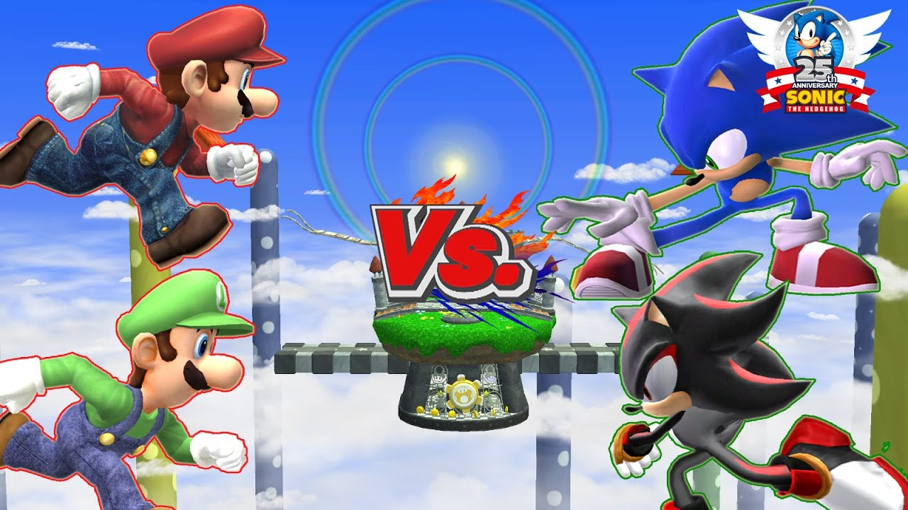 Luigi And Sonic SSBB HD Ishiiru...