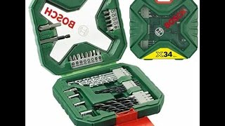 Bosch 2607010608 X-Line Classic Drill and Screwdriver Bit Set, 34 Pieces [Energy Class A] | Unbox