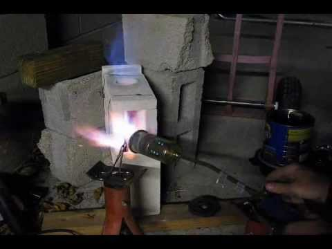 Homemade Fire Brick Propane Forge For Heat Treating Youtube