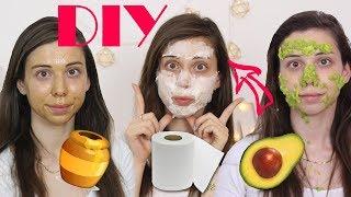 אני בהלםםם זה אשכרה עובד 😱 בואו ננסה להכין מסכות פנים! DIY אבוקדו, ביצים וטישו!