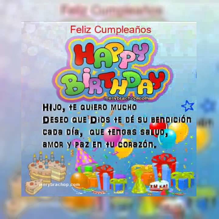 Feliz Cumpleaños Mi Niño Hermoso Youtube
