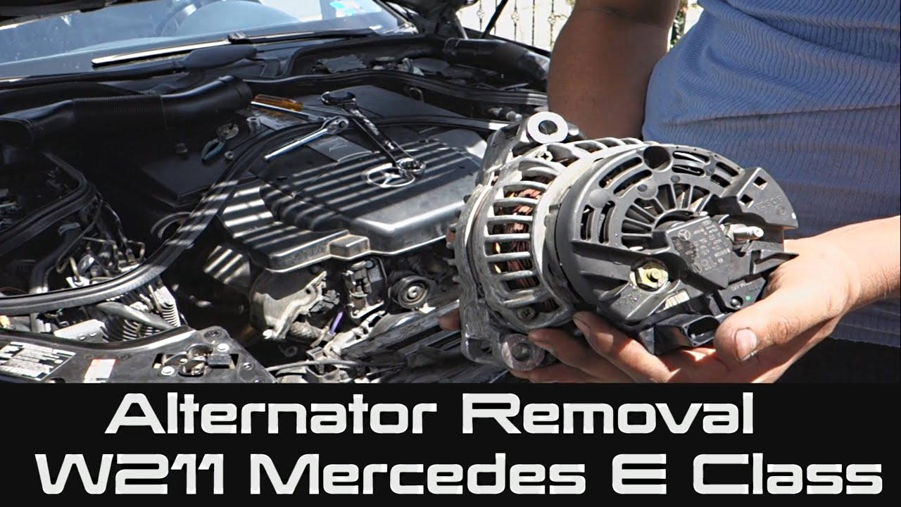how to remove alternator from mercedes w211 e class | e500 - youtube