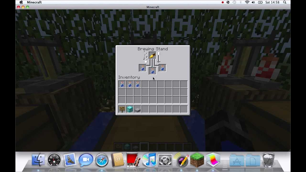 youtube minecraft how to make a strength potion