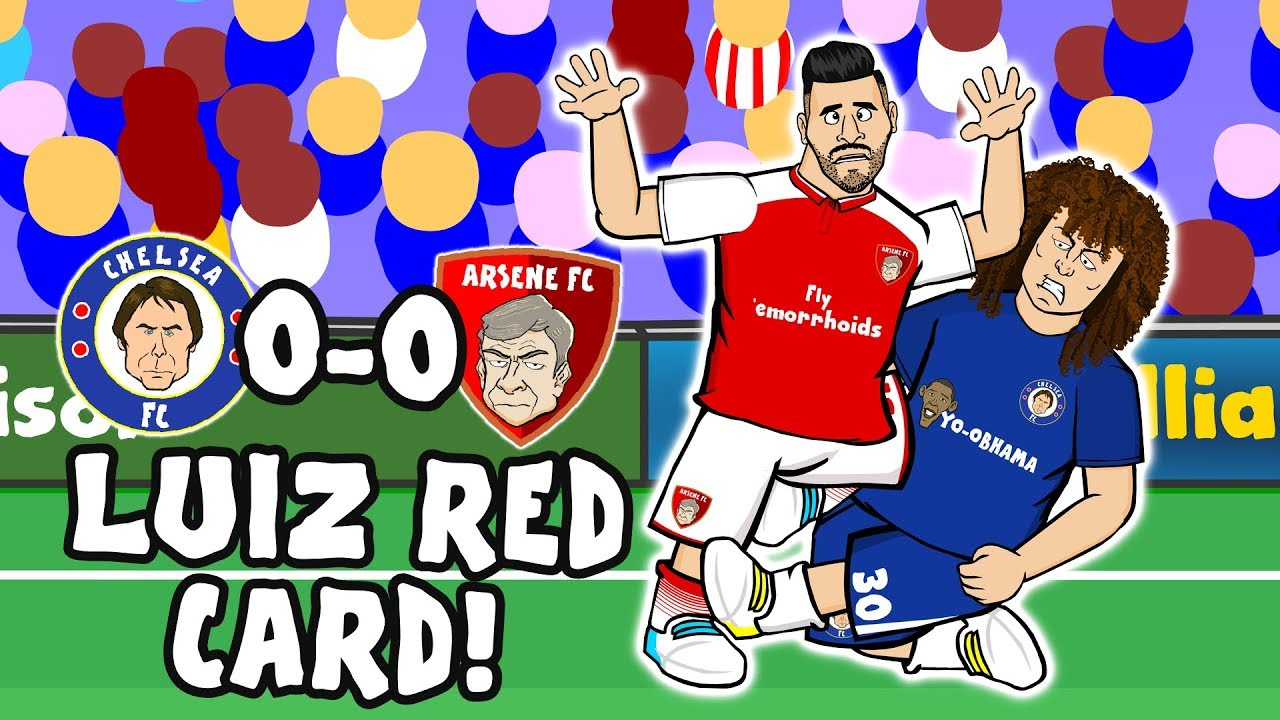 luiz-red-card-chelsea-vs-arsenal-the-song-0-0-2017-parody-highlights
