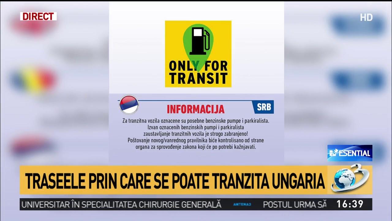 Harta Traseelor Prin Care Se Poate Tranzita Ungaria Youtube