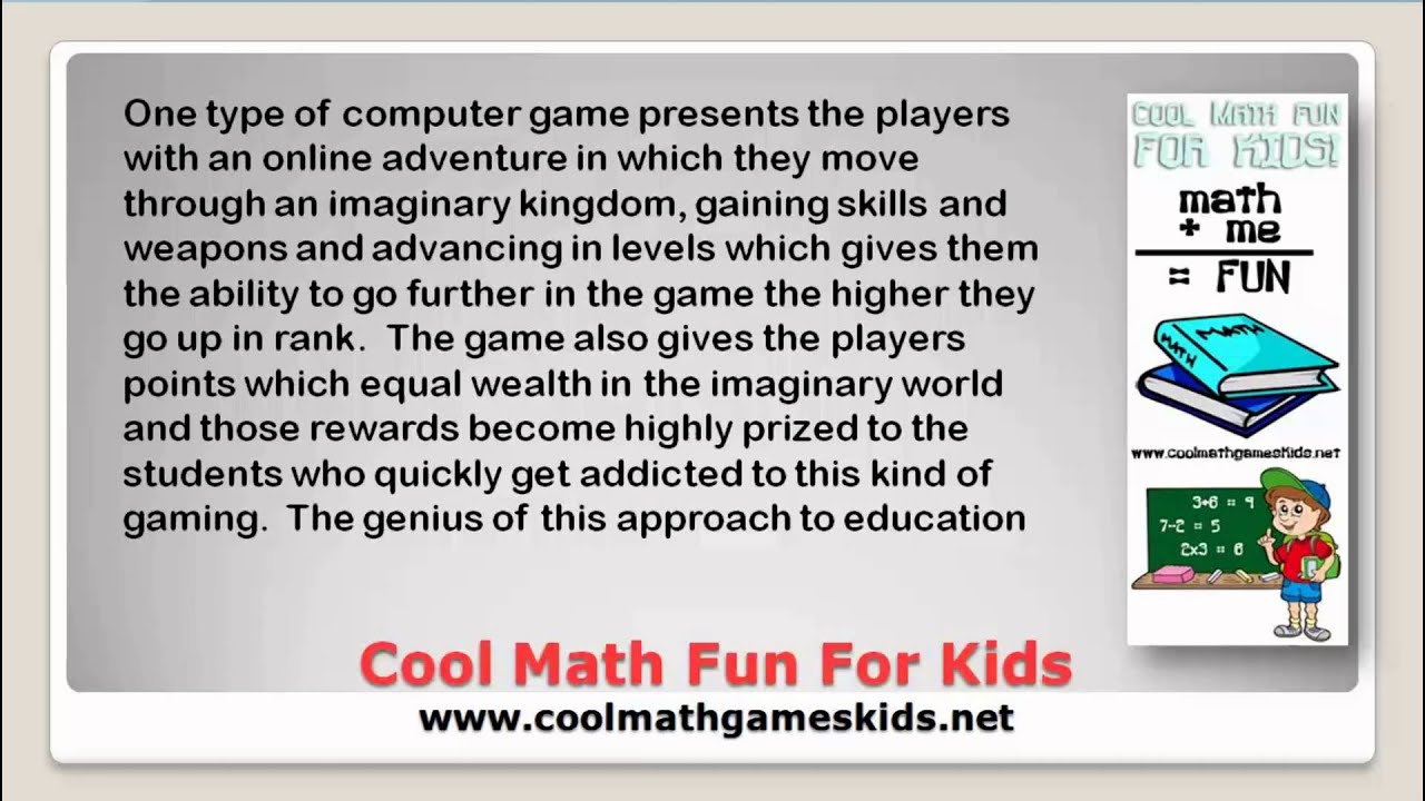 Cool Math Games Solve Math Word Problems We Show You How Youtube