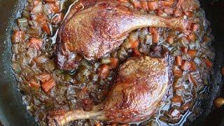 Crisp Braised Duck Legs With Aromatic Vegetables Recipe