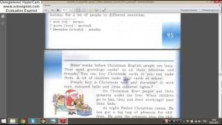 Верещагина 3 класс Стр 95-96 Текст Christmas