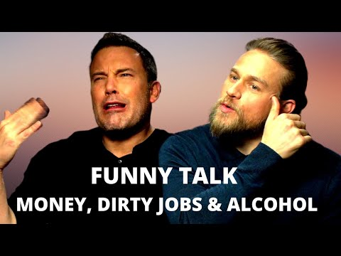 CHARLIE HUNNAM & BEN AFFLECK Beating Jetlag & Crack Up About Their Old Jobs (2019) 'TRIPLE FRONTIER'