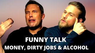 CHARLIE HUNNAM & BEN AFFLECK Beating Jetlag & Cracking Up About Their Old Jobs (2019) NETFLIX