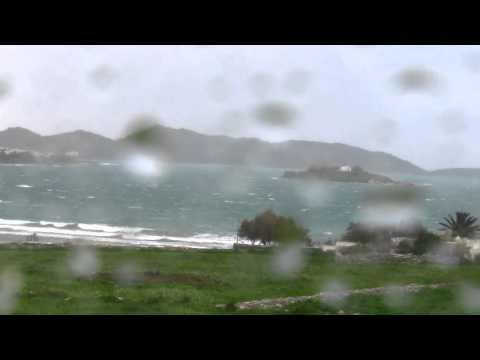 PAROS 08.03.2011 - 9 Beaufort Wind Scale & Strong Rain