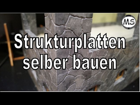 modellbau w nde platten steinoptik selber bauen tipps und tricks youtube. Black Bedroom Furniture Sets. Home Design Ideas