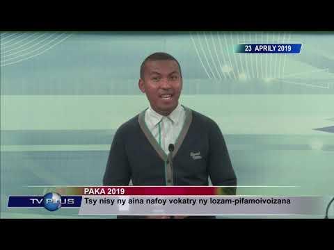VAOVAO DU 23 AVRIL 2019 BY TV PLUS MADAGASCAR