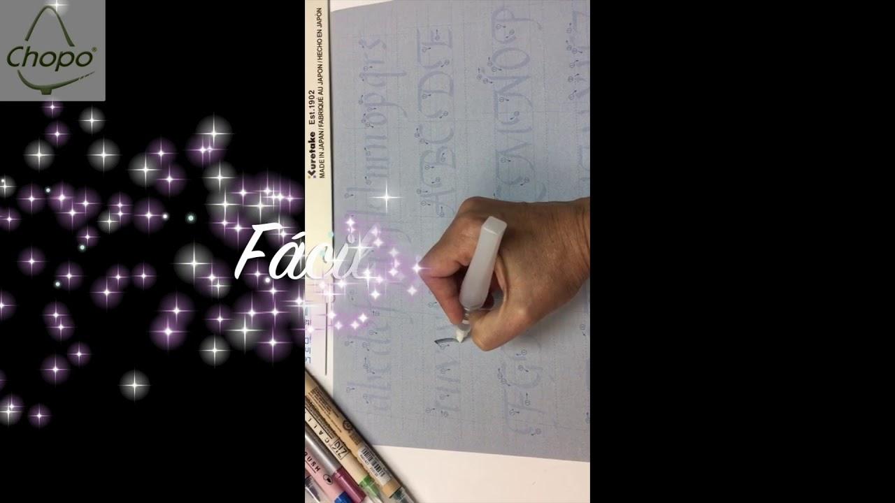 Plantillas de caligrafía artística de Kuretake - YouTube