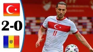 Турция Молдавия 2 0 Обзор Товарищеского Матча 03 06 2021 HD